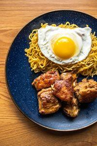 Baby Back Rib + Garlic Noodle + Egg